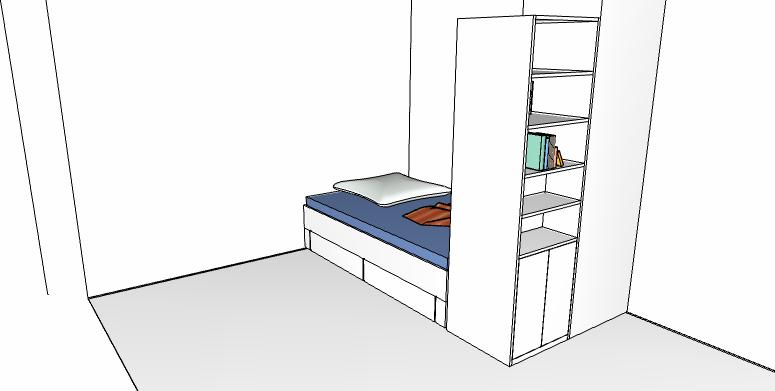 Zeichnung bett03 bednarski tischler for Bett zeichnung